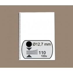 Draadrug GBC 12.7mm 34-rings A4 zwart 100stuks