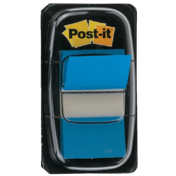 Indextabs 3M Post-it 680 25.4x43.2mm blauw