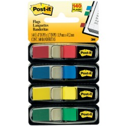 Indextabs 3M Post-it 6834 11,9x43,1mm assorti