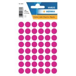 Etiket Herma 1856 rond 13mm roze 240stuks
