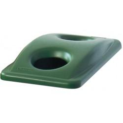 Afvalbakdeksel slim jim groen voor flessen