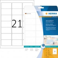 Etiket Herma 8838 63.5x38.1mm mat wit 525stuks