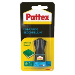 Secondelijm Pattex met kwast flacon 5gram op blister