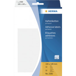 Etiket Herma 2580 100x149mm wit 32stuks