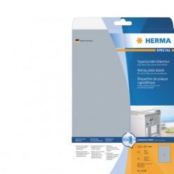 Etiket Herma 4224 A4 210x297mm folie zilver 25stuks