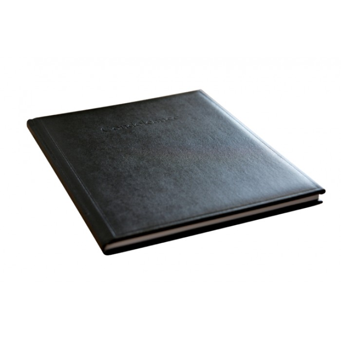 Condoleance album Kangaro 260x210mm zwart