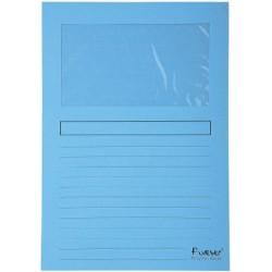 Insteekmap L-model Exacompta + venster karton lichtblauw
