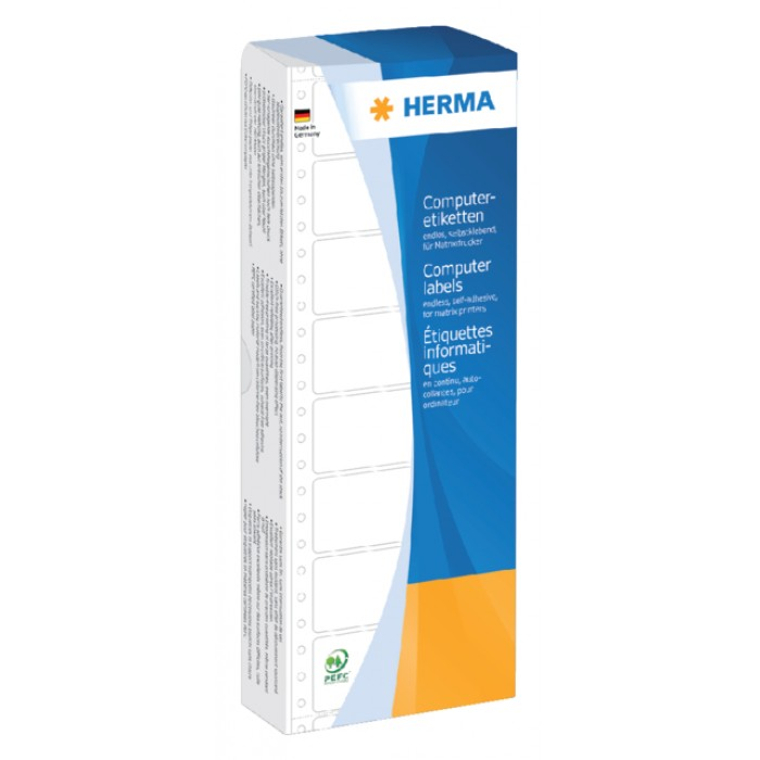 Etiket Herma 8181 88.9x35.7mm 1-baans geel 2000stuks