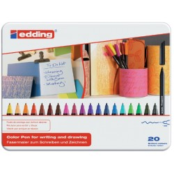 Fineliner edding 1200 assorti 0.5-1mm blik à 20 stuks