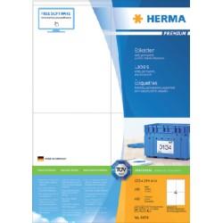 Etiket Herma 4454 105x144mm premium wit 400stuks