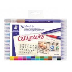 Kalligrafiepen Staedtler duo punt 2.0 en 3.5mm ass