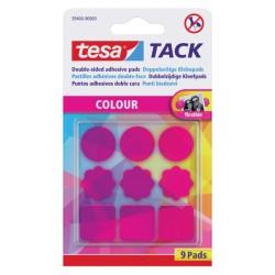 Dubbelzijdige kleefpads Tesa tack roze 9stuks