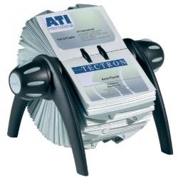 Visitekaartenmolen Durable Vegas 2417 voor 400st zwart/grijs