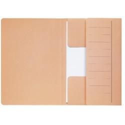 Dossiermap Secolor  Mammoet folio 3 kleppen 270gr chamois