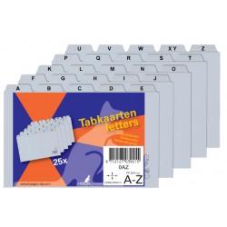 Alfabet HF2 110x150mm PP grijs