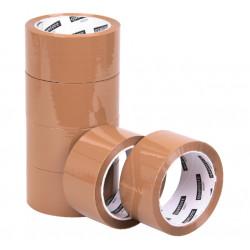 Verpakkingstape Quantore 50mmx60m PP bruin