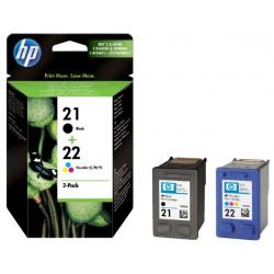 Inkcartridge HP SD367AE 21 + 22 zwart + kleur