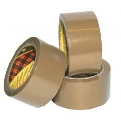 Verpakkingstape Scotch 371 50mmx66m bruin PP