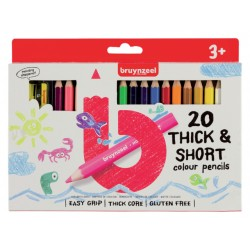 Kleurpotloden Bruynzeel Kids Kortjakje blister à 20 stuks assorti