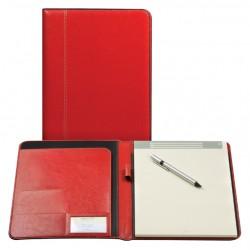 Schrijfmap Brepols Palermo A5 + blok rood