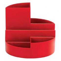 Pennenkoker MAUL roundbox 6 vakken rood