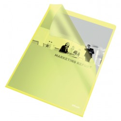 Insteekmap L-map Esselte standaard A4 PP geel