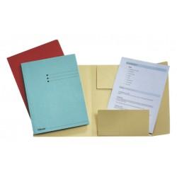 Dossiermap Esselte A4 3 kleppen manilla 275gr blauw