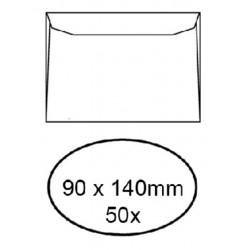 Envelop Quantore voor visitekaartjes 90x140mm 95gr wit 50st.