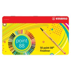 Fineliner Stabilo Point 88 50 stuks assorti