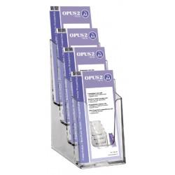 Folderhouder OPUS 2 4vaks 1/3 A4 transparant