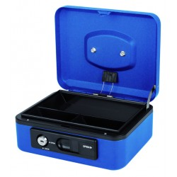 Geldkist Pavo Deluxe 200x160x90mm blauw