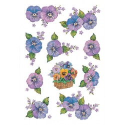 Etiket Herma 3818 bloem paars