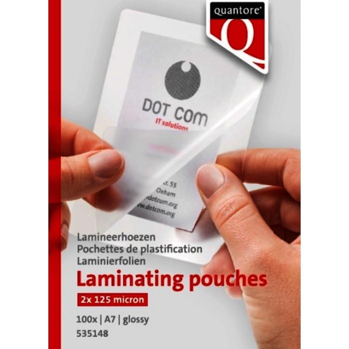 Lamineerhoes Quantore A7 2x125micron 100stuks