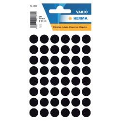 Etiket Herma 1869 rond 12mm zwart 240stuks