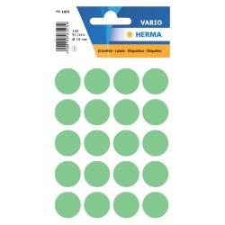 Etiket Herma 1875 rond 19mm groen 100stuks