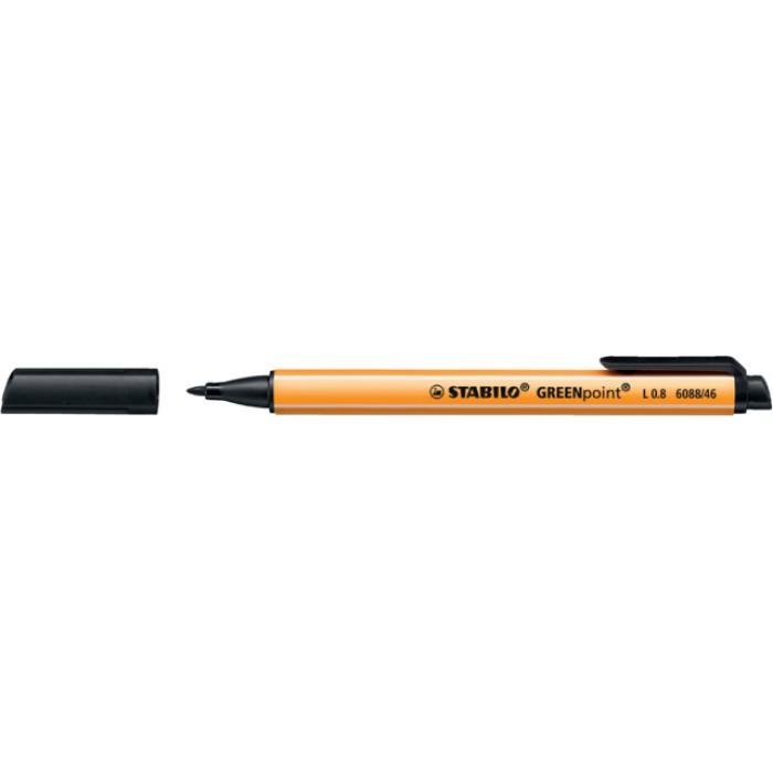Fineliner STABILO Greenpoint 6088/46 0.8mm zwart