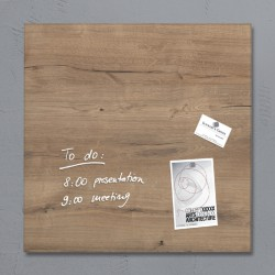 Glasbord Sigel magnetisch 480x480x15mm natural wood