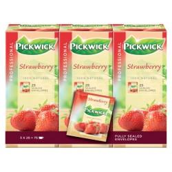 Thee Pickwick aardbeien 25 zakjes van 1.5gr