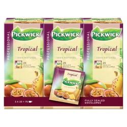 Thee Pickwick tropische vruchten 25 zakjes van 1.5gr