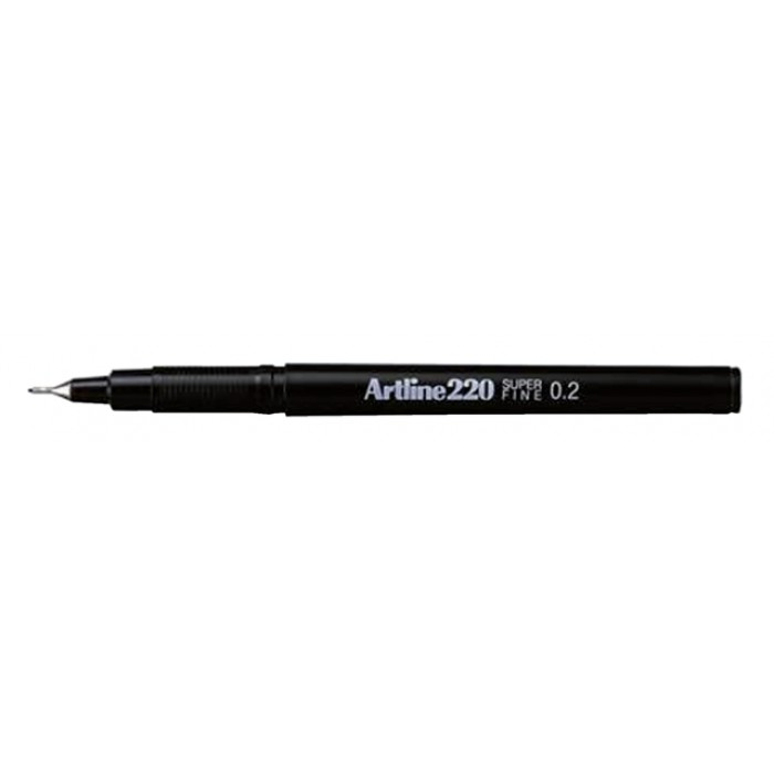 Fineliner Artline 220 rond 0.2mm zwart