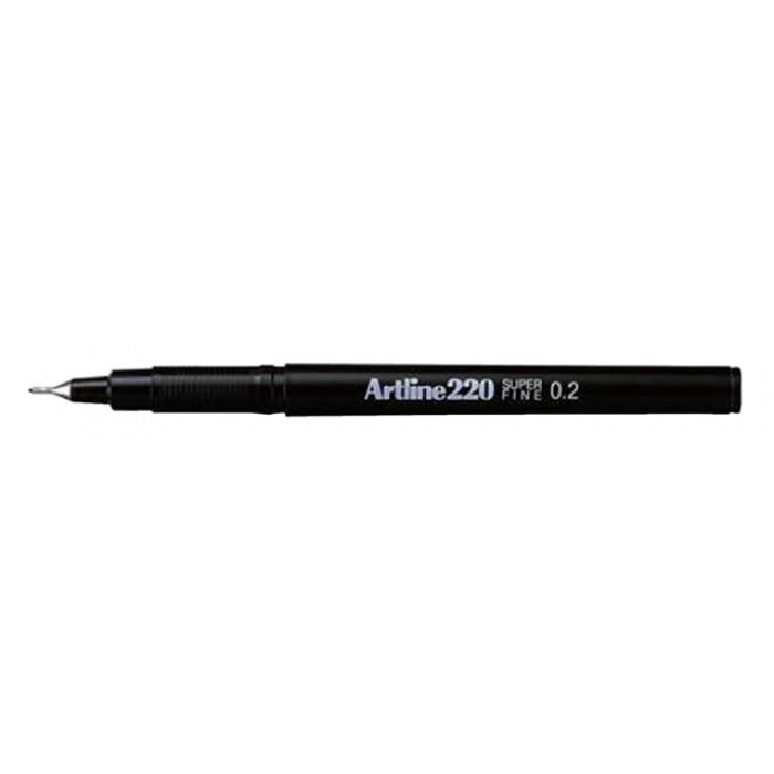 Fineliner Artline 220 rond 0.2mm zwart