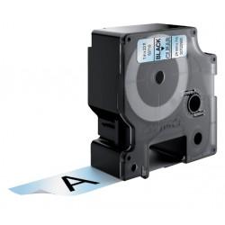 Labeltape Dymo 53710 D1 720920 24mmx7m zwart op transparant