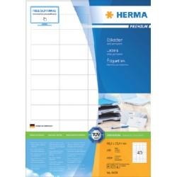 Etiket Herma 4474 48.5x25.4mm premium wit 4000stuks