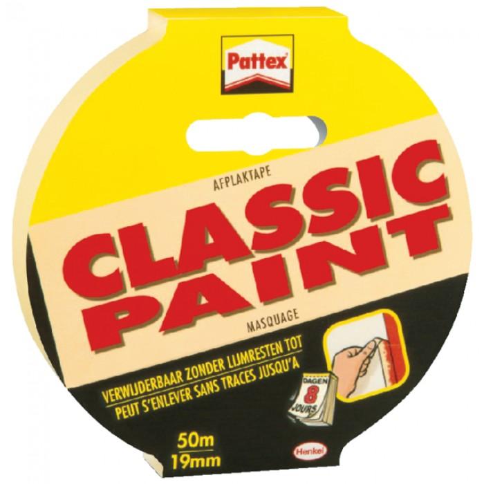 Afplaktape Pattex 19mmx50m Classic creme