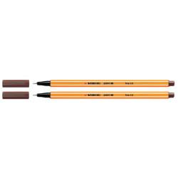 Fineliner STABILO point 88/45 bruin