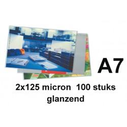 Lamineerhoes GBC A7 2x125micron 100stuks