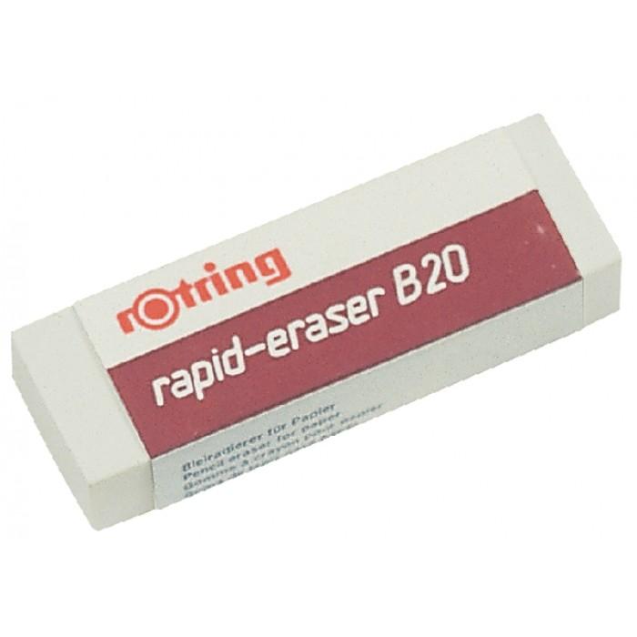 Gum rOtring B20 65x23x10mm potlood wit
