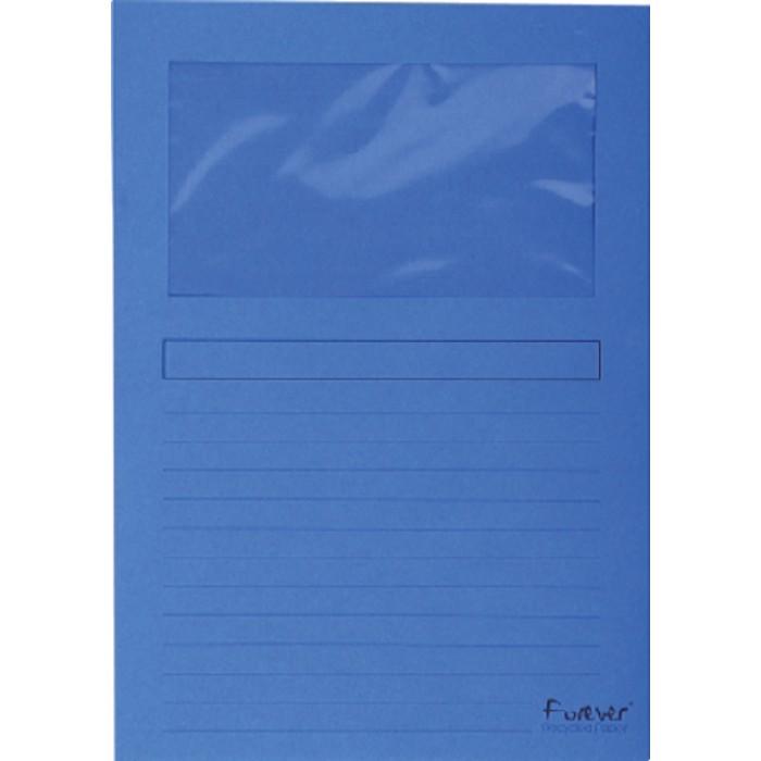 Insteekmap L-model Exacompta + venster karton donkerblauw