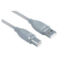 Kabel Hama USB 2.0 A-B 180cm grijs 25 stuks