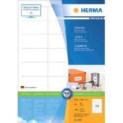 Etiket Herma 4262 64.6x33.8mm premium wit 2400stuks